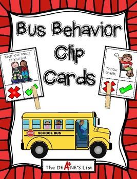 Skool bus behavior clipart transparent Bus Behavior Clip Cards transparent