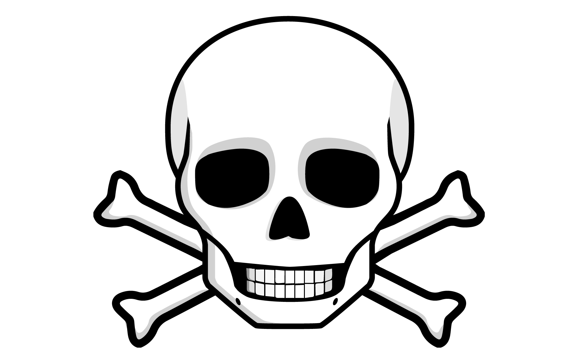 Skull and bones clipart banner freeuse library Free Skull And Bones, Download Free Clip Art, Free Clip Art ... banner freeuse library