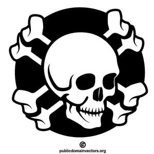Skull and bones clipart banner transparent stock 17059 pirate skull and crossbones clip art free | Public ... banner transparent stock