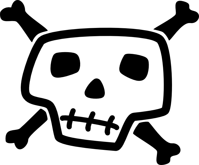 Skull and bones clipart picture Skull and Crossbone Clipart picture