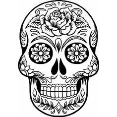 Skull art clipart graphic Day of the Dead | Sugar Skull, Sugar Skull Art and Sugar ... graphic