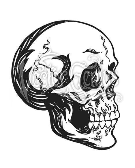 Skull pictures clipart svg royalty free Hand Drawn Skull Skeleton ClipArt svg royalty free