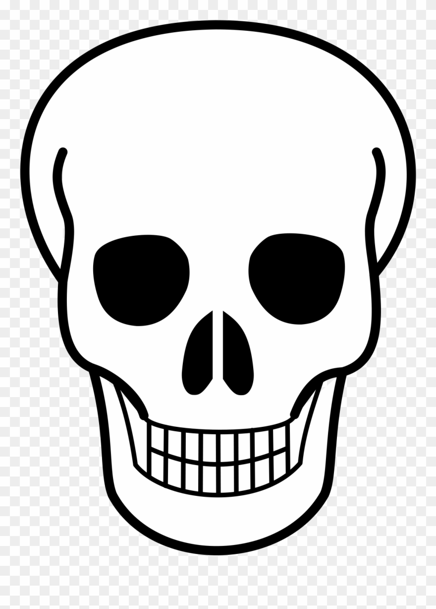 Open - Skull Clipart Transparent Background - Png Download ... vector