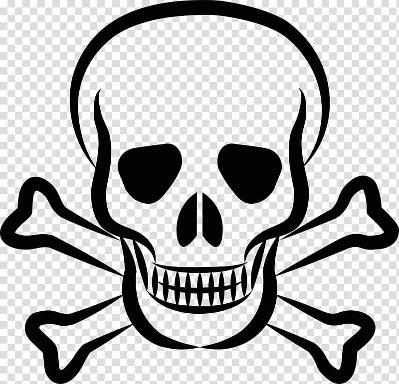 Skull clipart with clear background clip art black and white download Skull and crossbones Skull and Bones , pirate transparent ... clip art black and white download