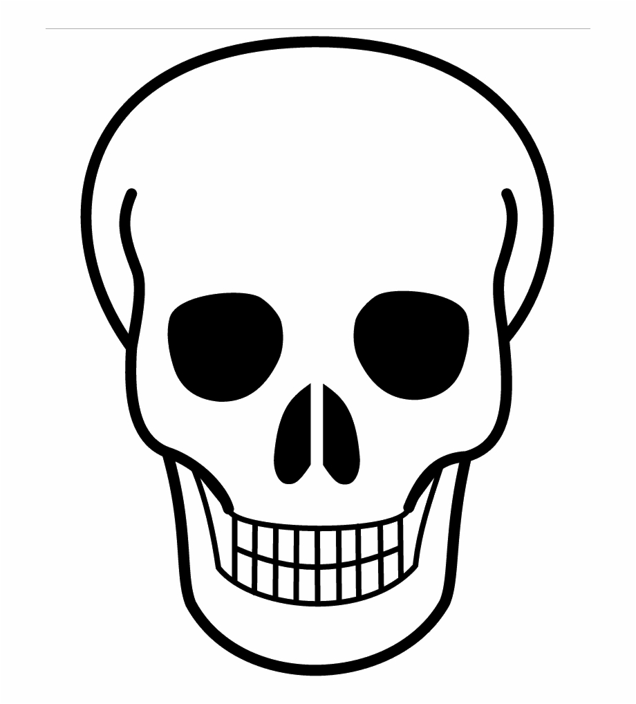 Skull clipart with clear background clipart free stock Sugar Skull Templates - Skull Clipart Transparent Background ... clipart free stock
