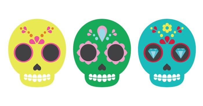Skull drumsticks clipart png transparent Sugar Skull Clip Art - Hey, Let\'s Make Stuff png transparent