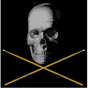 Skull drumsticks clipart png Old Skull Drumming clipart, cliparts of Old Skull Drumming ... png