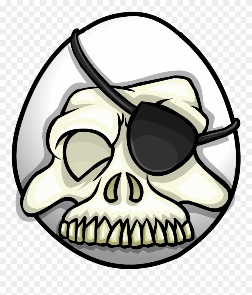 Skull mask clipart png black and white Skull Mask - Club Penguin Skull Mask Clipart (#568308 ... png black and white