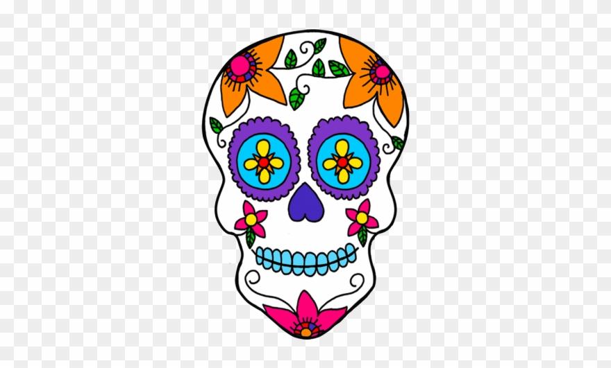 Skull mask clipart clip art black and white stock Day Of The Dead Clipart Female Skull - Sugar Skull Mask ... clip art black and white stock