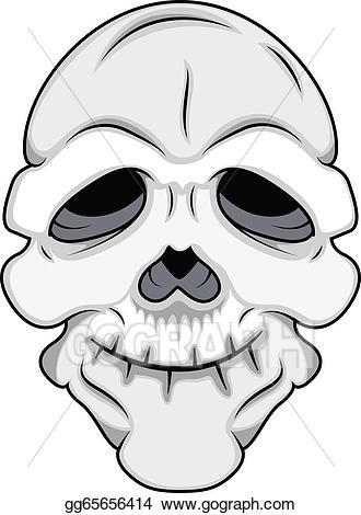 Skull mask clipart graphic royalty free EPS Illustration - Funny skull mask vector. Vector Clipart ... graphic royalty free