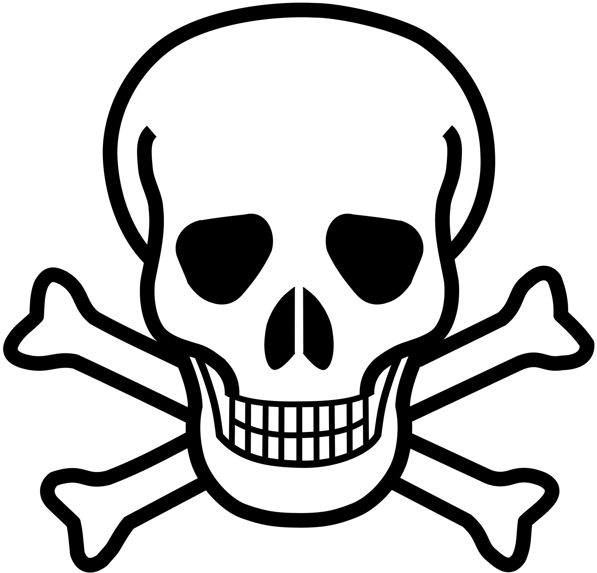 Skull player football clipart png download Skull And Crossbones Group (79+) png download