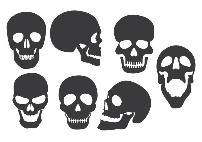 Skull silhouette clipart