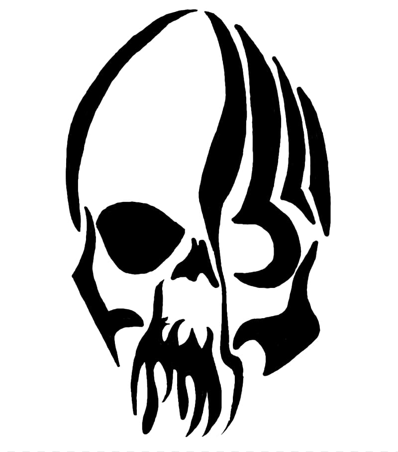 Skull tattoo clipart banner library Skull logo, Tattoo artist Skull , Tribal Skull Tattoos ... banner library