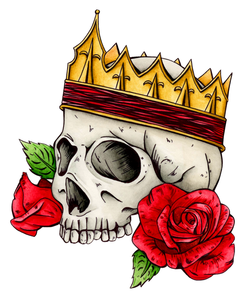 Skull with a king crown clipart graphic transparent stock Long Live The King by Hummingbird26 on DeviantArt graphic transparent stock
