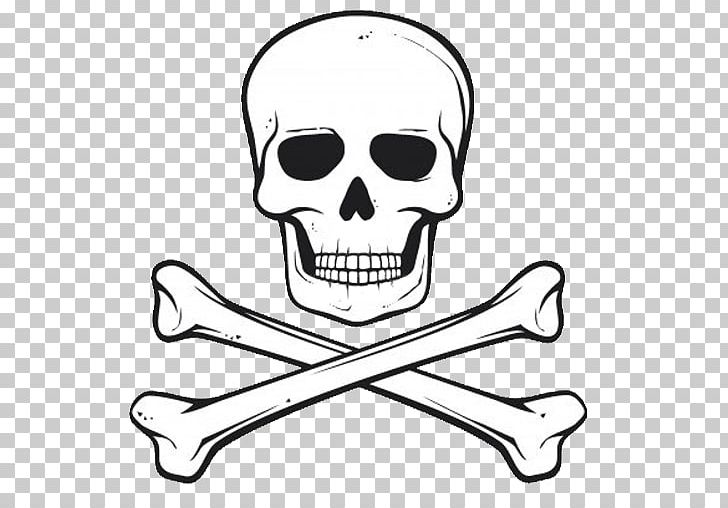 Skull with bones clipart clipart royalty free library Pirate Jolly Roger Skull Bone PNG, Clipart, Artwork, Black ... clipart royalty free library