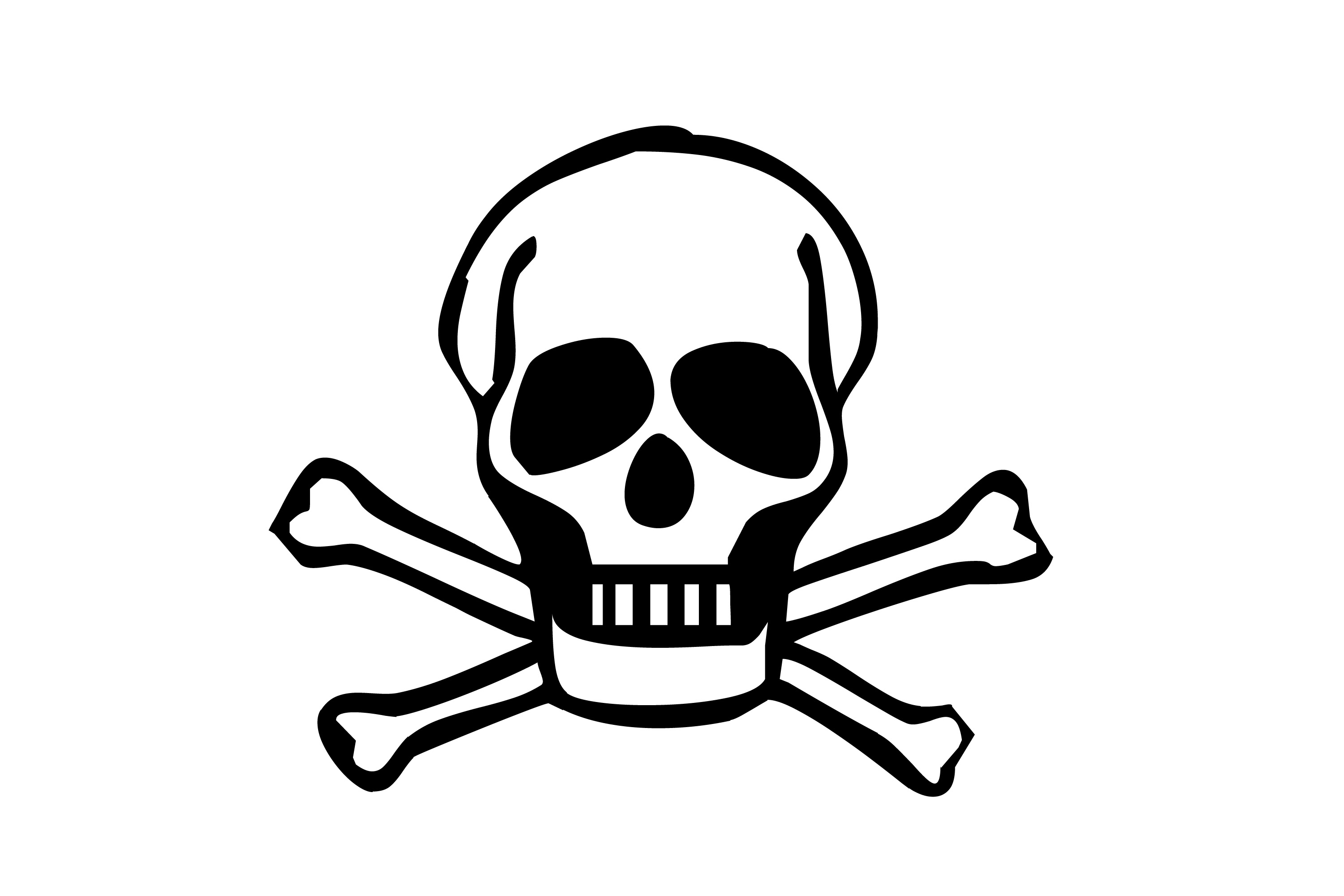 Skull with bones clipart png black and white library 15+ Skull And Bones Clip Art | ClipartLook png black and white library