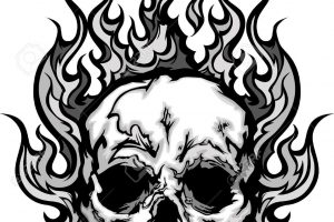Skull with flames clipart image freeuse download Skull with flames clipart 2 » Clipart Station image freeuse download