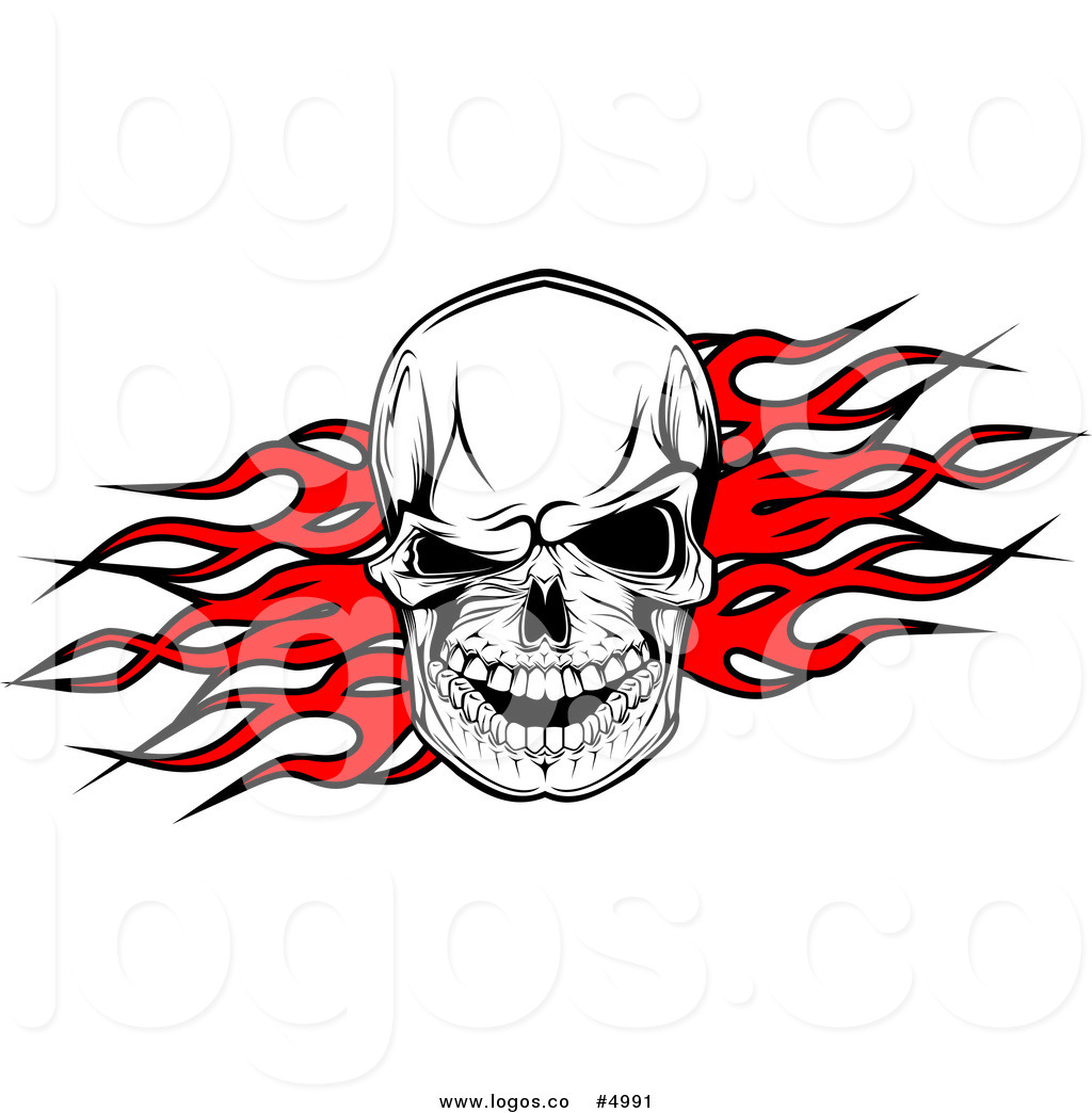 Skull with flames clipart svg free Skull and flames clipart (43 ) - Clipartable.com svg free