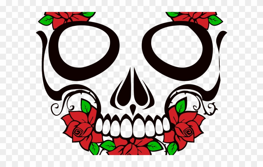 Skull with flowers clipart royalty free download Sugar Skull Clipart Rose - Sugar Skull Transparent ... royalty free download