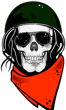 Skull with helmet clipart picture black and white stock Skull with military helmet vector Free vector in Adobe ... picture black and white stock