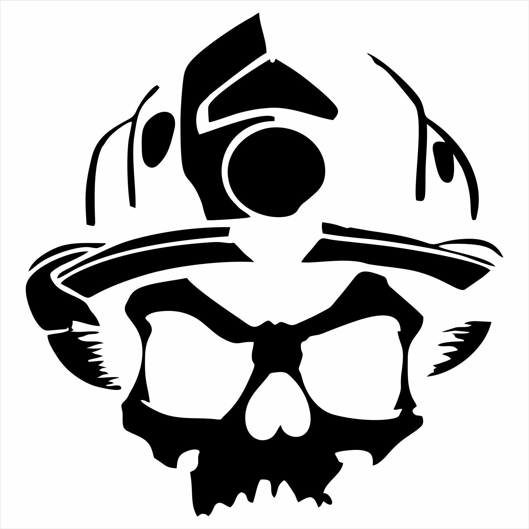 Skull with helmet clipart jpg freeuse library Firefighter Skull with Helmet\