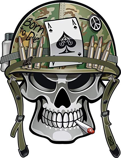 Skull with helmet clipart svg transparent download Amazon.com: Simple Military Soldier Skull with War Helmet ... svg transparent download