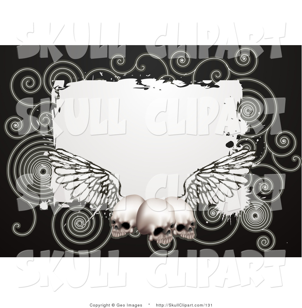 Skulls and hearts square border clipart black and white transparent download Vector Clip Art of a Black Border Around a White Square with ... transparent download