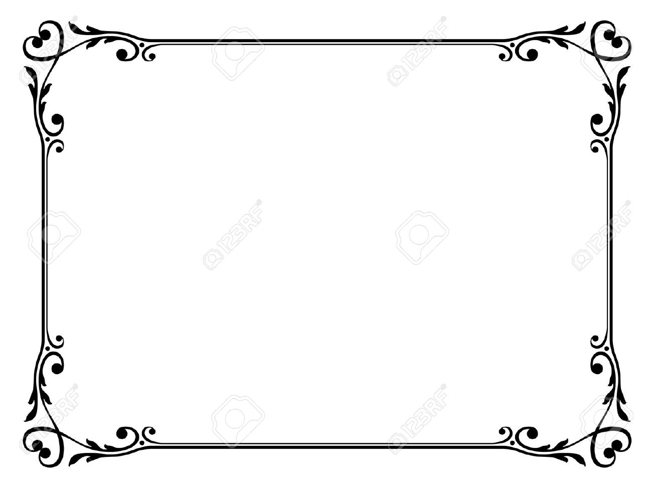 Skulls and hearts square border clipart black and white picture transparent Collection of Border clipart | Free download best Border ... picture transparent