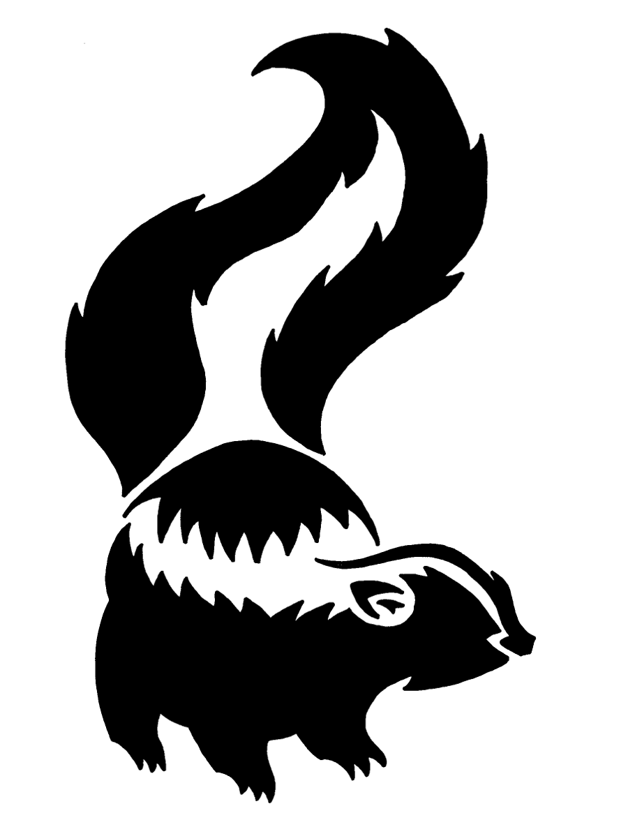 Skunk silhouette clipart clip black and white stock Skunk. | Woodland Creatures | Silhouette clip art ... clip black and white stock