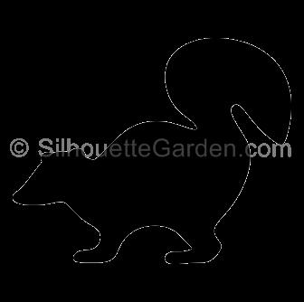 Skunk silhouette clipart clip art transparent library Skunk Silhouette clip art transparent library