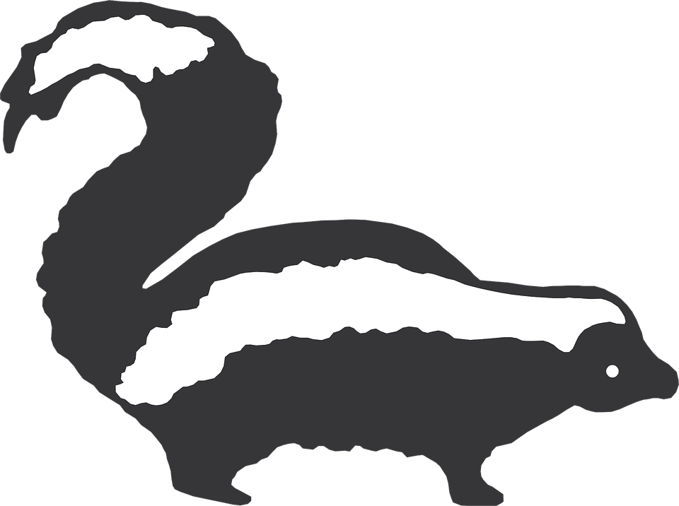 Skunk silhouette clipart jpg free library Skunk Clip art - skunk png download - 960*716 - Free ... jpg free library