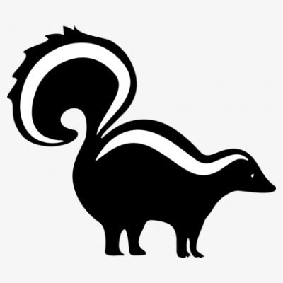 Skunk silhouette clipart png free stock Shirtcity Skunk Silhouette Baby One Piece: Amazon.co.uk ... png free stock