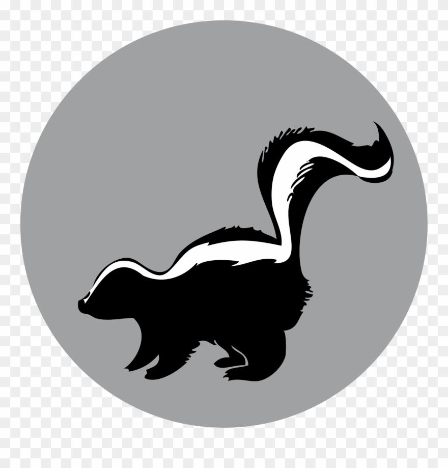 Skunk silhouette clipart jpg royalty free library Raccoon American Mink Duck - Skunk Silhouette Clipart ... jpg royalty free library
