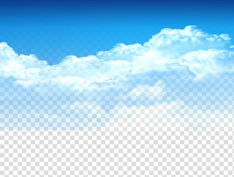 Sky clipart clouds clip art transparent Cloud , Blue sky, white clouds element, Taobao material ... clip art transparent