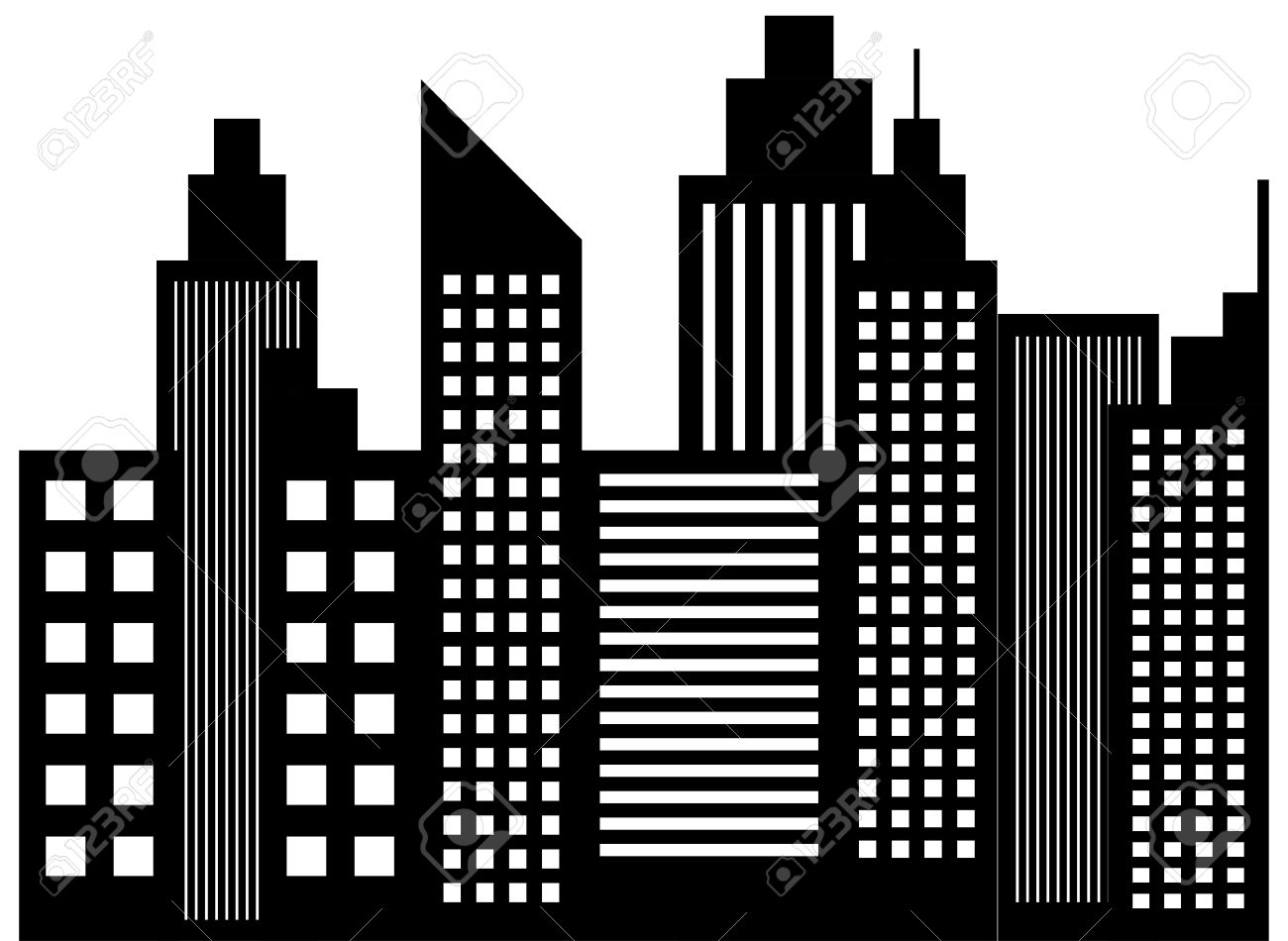Skyscarper clipart picture transparent download Skyscraper clipart black and white 7 » Clipart Station picture transparent download