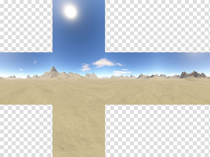 Skybox clipart transparent Brown sand dunes illustration, Skybox Texture mapping Cube ... transparent