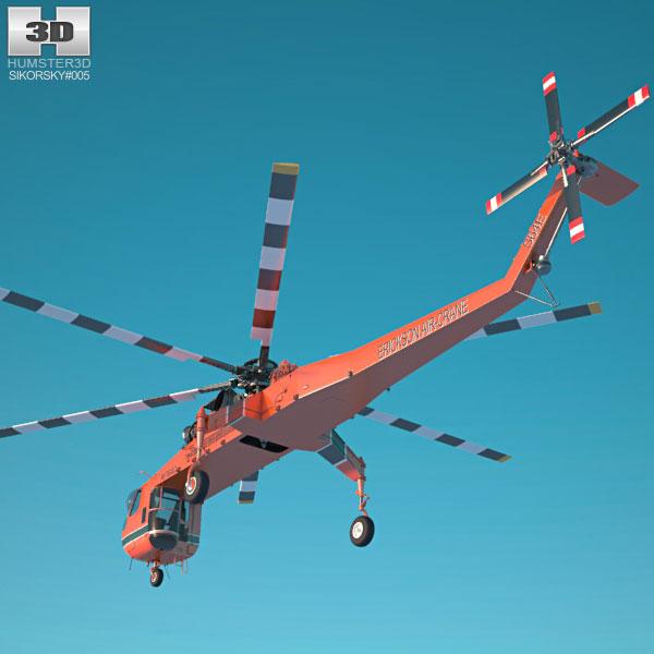Skycrane clipart vector transparent library Sikorsky S-64 Skycrane 3D model vector transparent library