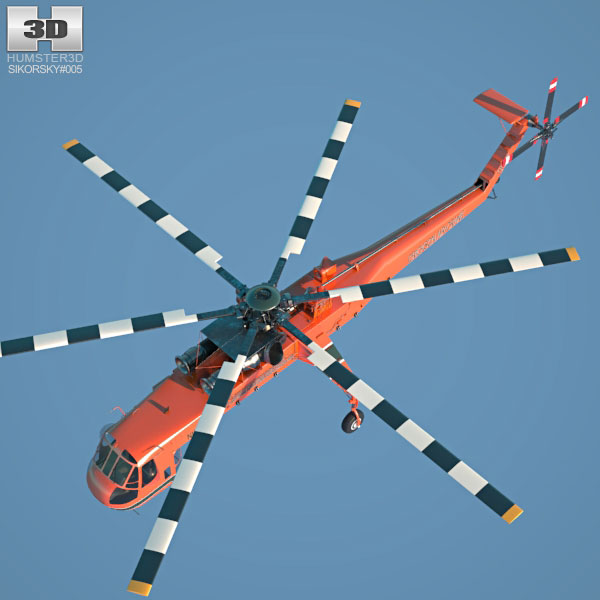Skycrane clipart picture freeuse download Sikorsky S-64 Skycrane 3D model picture freeuse download