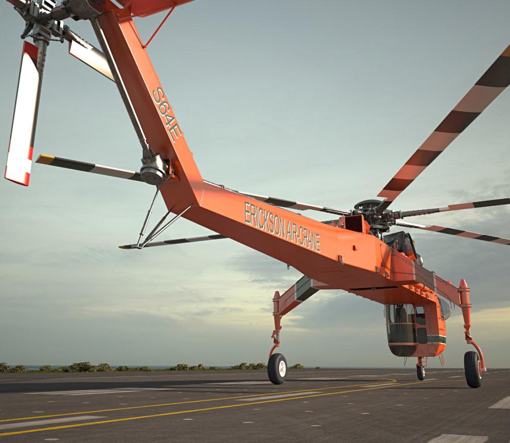 Skycrane clipart svg free Sikorsky S-64 Skycrane 3D model svg free