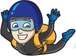 Skydiving cartoon clipart vector freeuse stock Image result for skydive cartoon | Skydiving in 2019 ... vector freeuse stock
