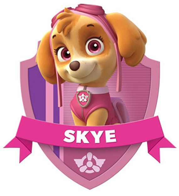 Skye paw patrol with paw prints clipart clip art download Characters for download. Paw Patrol skye prints great for ... clip art download