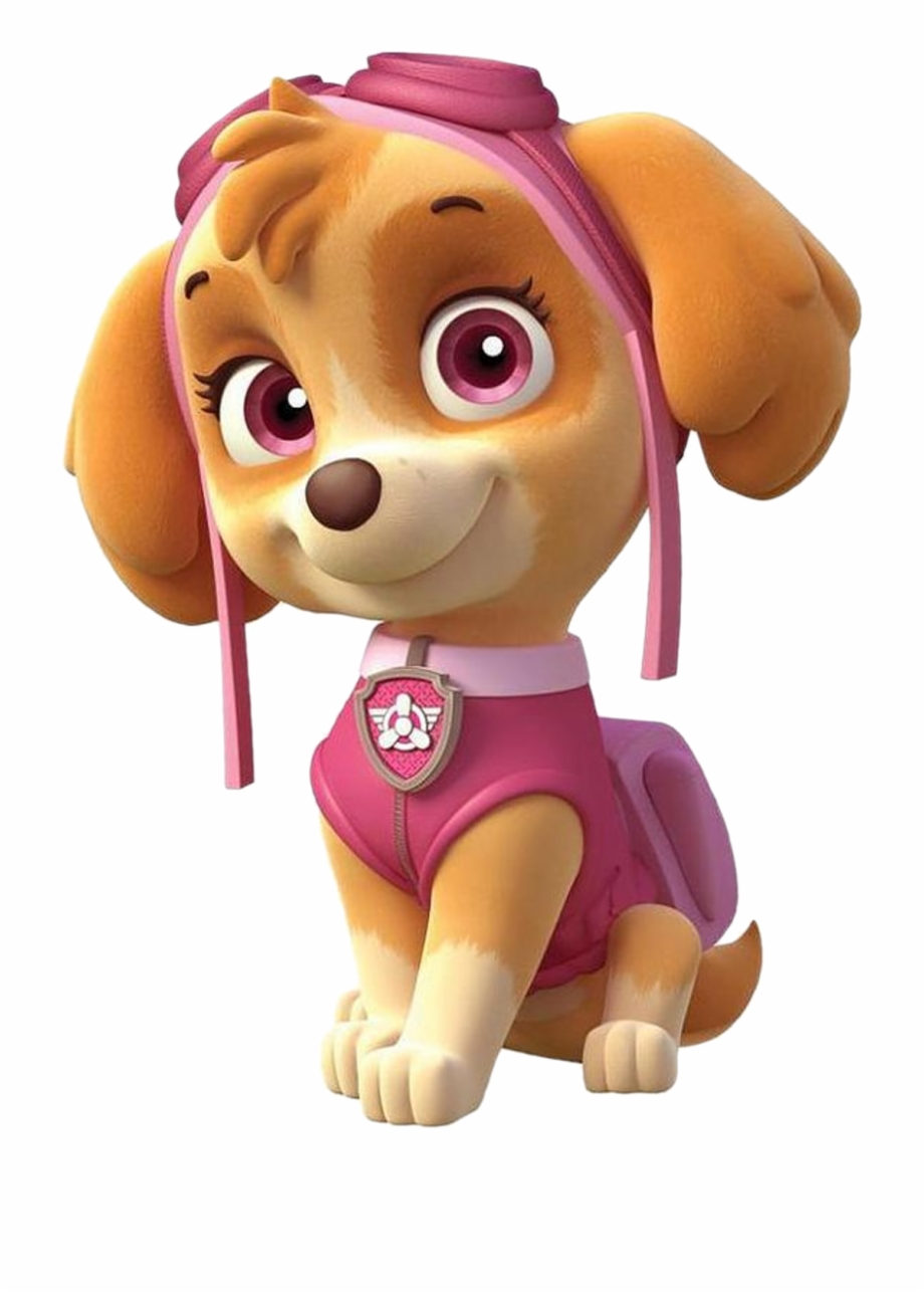 Skye paw patrol with paw prints clipart library New Paw Patrol Png\'s - Skye Paw Patrol Vector Free PNG ... library