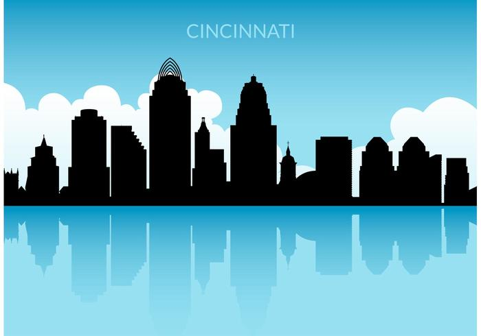 Skyline vector clipart clip transparent download Free Cincinnati Skyline Vector - Download Free Vectors ... clip transparent download