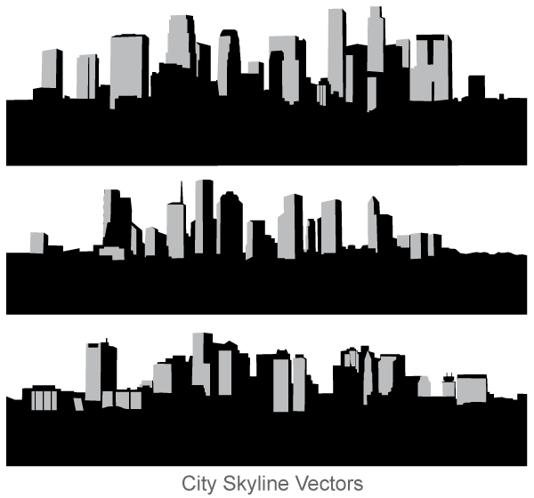 Skyline vector clipart transparent library City Skyline Free Vector Art | Download Free Vector Art ... transparent library