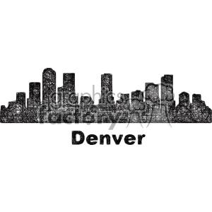 Skyline vector clipart jpg black and white black and white city skyline vector clipart USA Denver . Royalty-free  clipart # 402701 jpg black and white