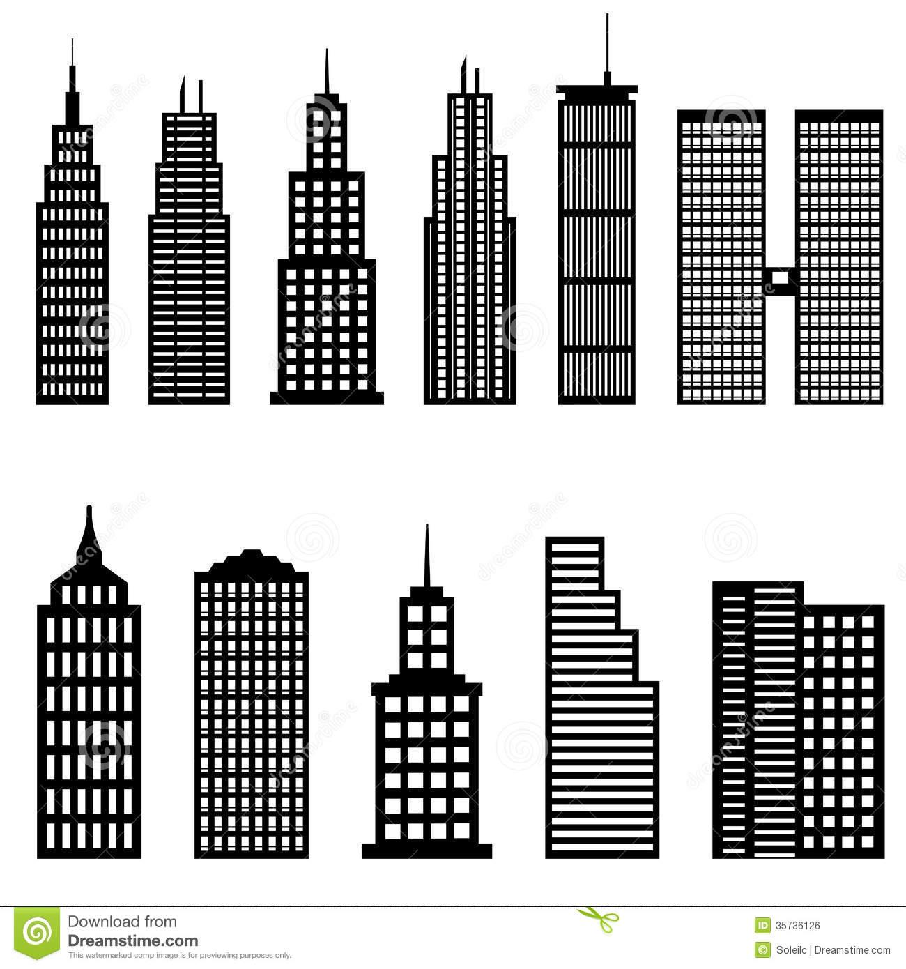 Skyskraper clipart svg free stock Skyscraper clipart black and white 6 » Clipart Station svg free stock