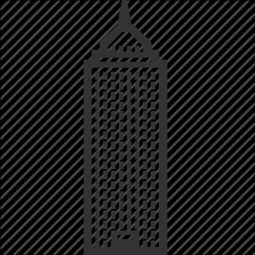 Skyskraper clipart jpg black and white stock Building Icon clipart - Building, Font, Line, transparent ... jpg black and white stock