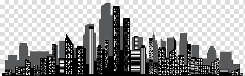 Skyscraper clipart on a white background banner freeuse Town cityscape illustration, Brand Skyscraper Skyline Black ... banner freeuse