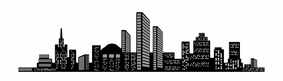 Skyscraper clipart on a white background banner Skyscraper Clipart Transparent - City Scape Transparent ... banner