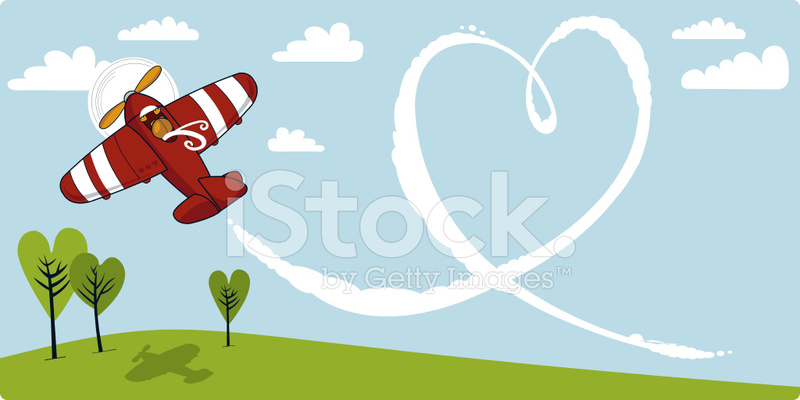 Skywriting plane clipart png download Valentine Skywriter Stock Vector - FreeImages.com png download